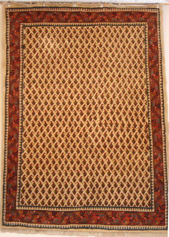 Persian Sarough Hand-knotted Rug Wool on Cotton (ID 175)