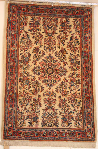 Persian Sarough Hand-knotted Rug Wool on Cotton (ID 208)
