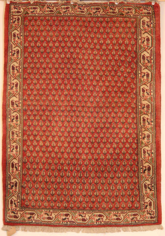 Persian Sarough Hand-knotted Rug Wool on Cotton (ID 212)