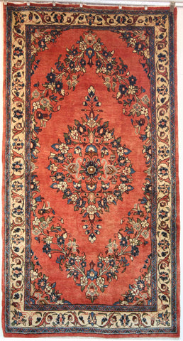 Persian Sarough Hand-knotted Rug Wool on Cotton (ID 1239)