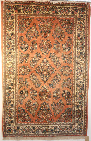 Persian Sarough Hand-knotted Rug Wool on Cotton (ID 51)