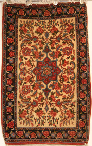 Persian Sarough Hand-knotted Rug Wool on Cotton (ID 1035)