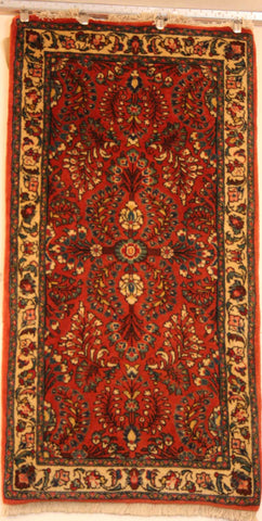 Persian Sarough Hand-knotted Rug Wool on Cotton (ID 1037)