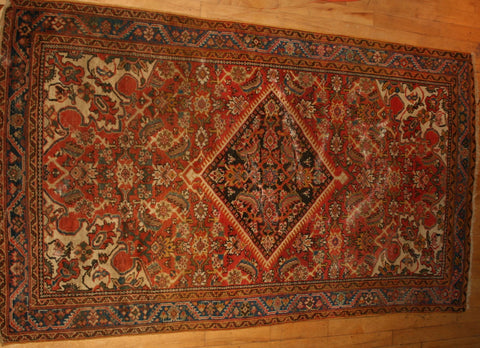 Persian Sarough Hand-knotted Rug Wool on Cotton (ID 1282)