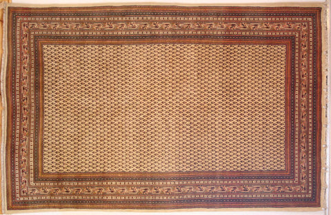 Persian Sarough Hand-knotted Rug Wool on Cotton (ID 1210)