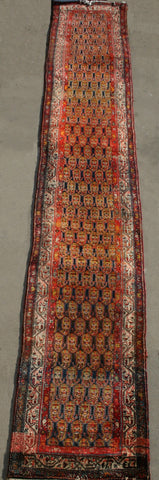 Persian Sarough Hand-knotted Runner wool on Cotton (ID 1311)