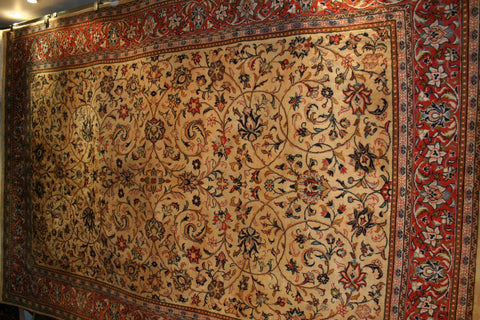 Persian Sarough Hand-knotted Rug Wool on Cotton (ID 1309)