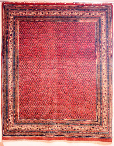 Persian Sarough Hand-knotted Rug Wool on Cotton (ID 1186)