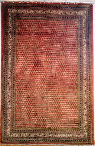 Persian Sarough Hand-knotted Rug Wool on Cotton (ID 331)