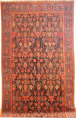 Persian Sarough Hand-knotted Rug Wool on Cotton (ID 280)