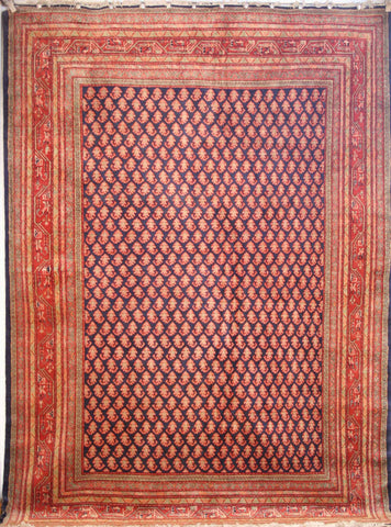 Persian Sarough Hand-knotted Rug Wool on Cotton (ID 278)