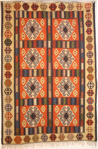 Persian Shiraz Hand-knotted Kilim Wool on Wool (ID 241)