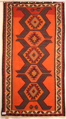 Persian Shiraz Hand-knotted Kilim Wool on Wool (ID 253)
