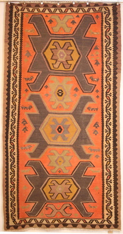 Persian Shiraz Hand-knotted Kilim Wool on Wool (ID 254)