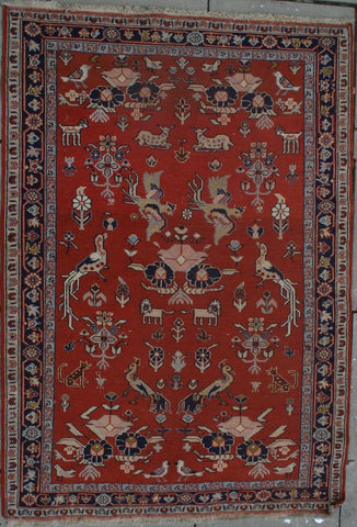 Persian Dasht-e-moghan Hand-knotted Suzani Wool on Wool (ID 242)