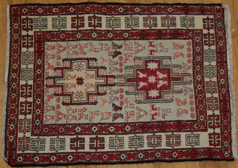 Persian Dasht-e-moghan Hand-knotted Suzani Wool on Cotton (ID 1283)