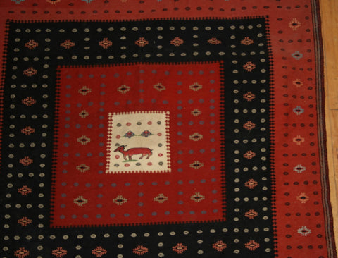 Persian Dasht-e-moghan Hand-knotted Suzani Wool on Wool (ID 1099)