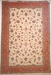 Persian Tabriz Hand-knotted Rug Wool and silk on Cotton (ID 228)