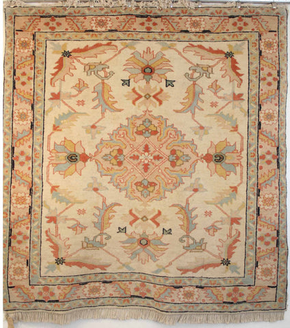 Persian Tabriz Hand-knotted Rug Wool on Cotton (ID 180)
