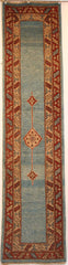 Persian Tabriz Hand-knotted Runner Wool on Cotton (ID 44)