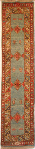 Persian Tabriz Hand-knotted Runner Wool on Cotton (ID 47)