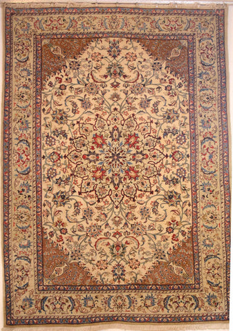 Persian Yazd Hand-knotted Rug Wool on Cotton (ID 291)
