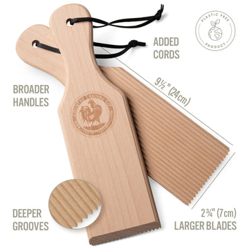 wooden boards for making gnocchi and butter