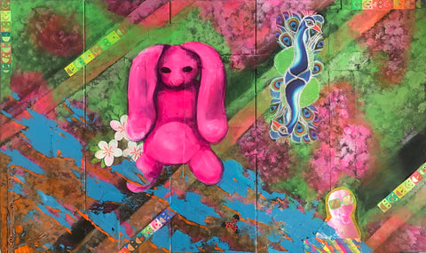 Untitled(pink bunny and greeting cards)