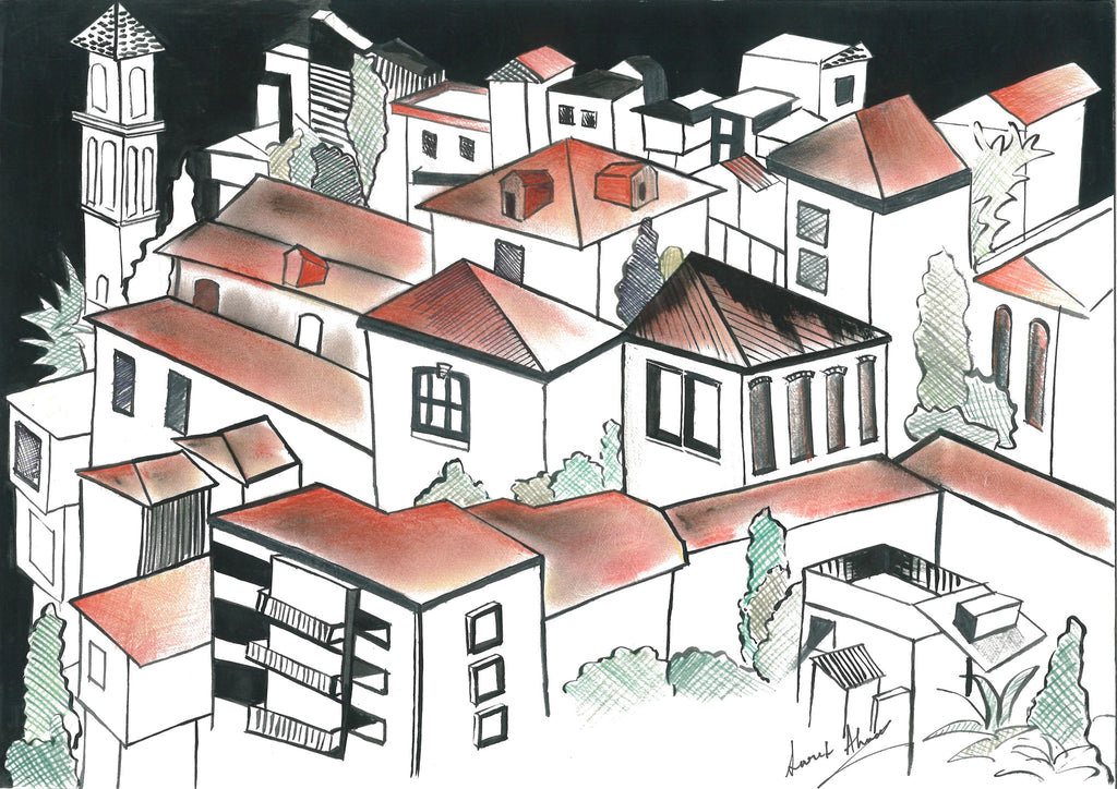 Old forms - Red brick houses - Surmrit Gallery of Art & Design