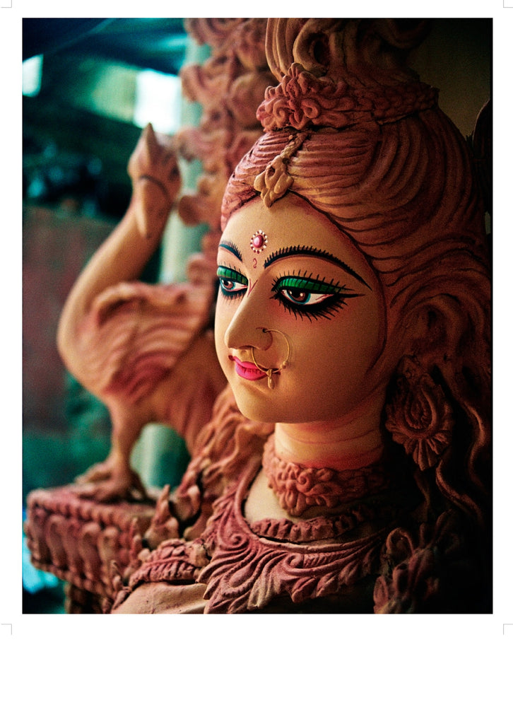 Painted on Clay Durga - Surmrit Gallery of Art & Design