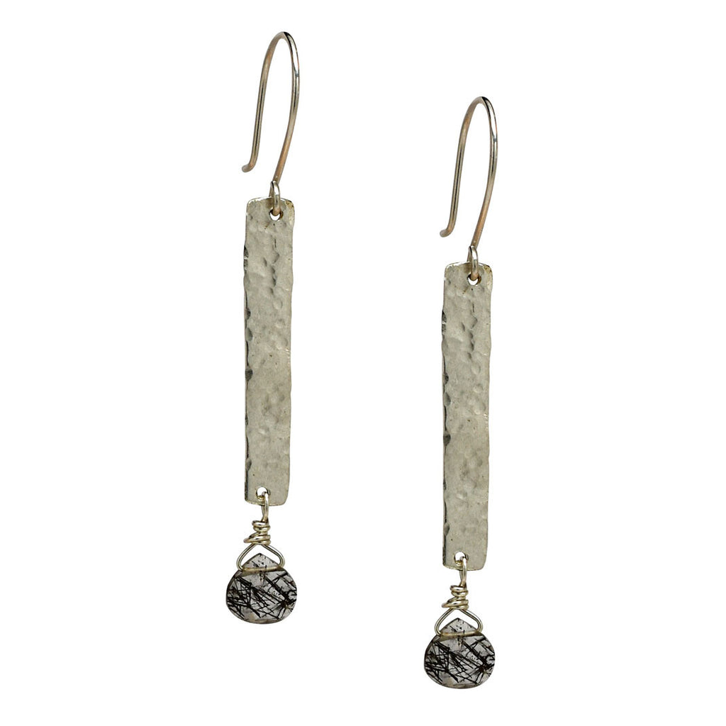 Bar and Gemstone Earrings