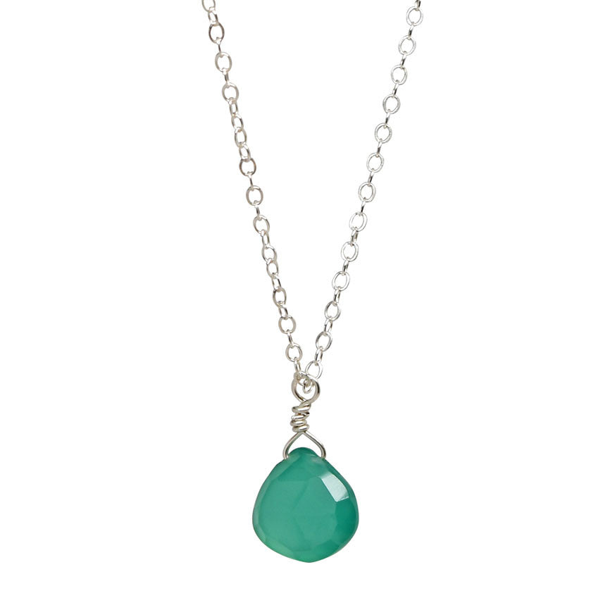 single gem necklace