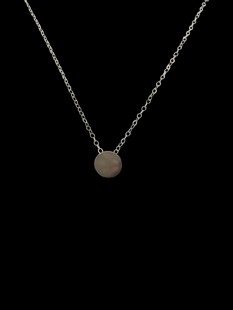 sliding disc necklace