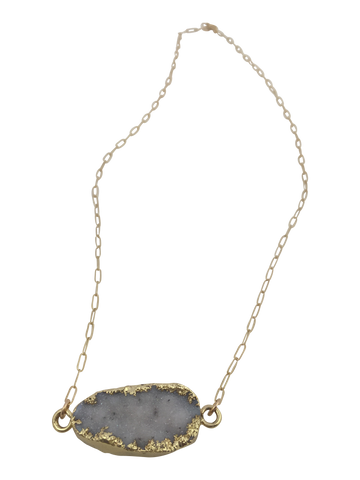 dreamy druzy necklace