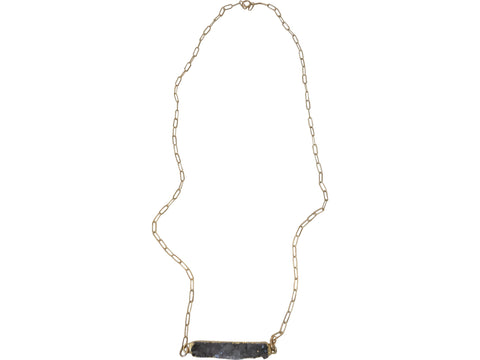 bar druzy necklace