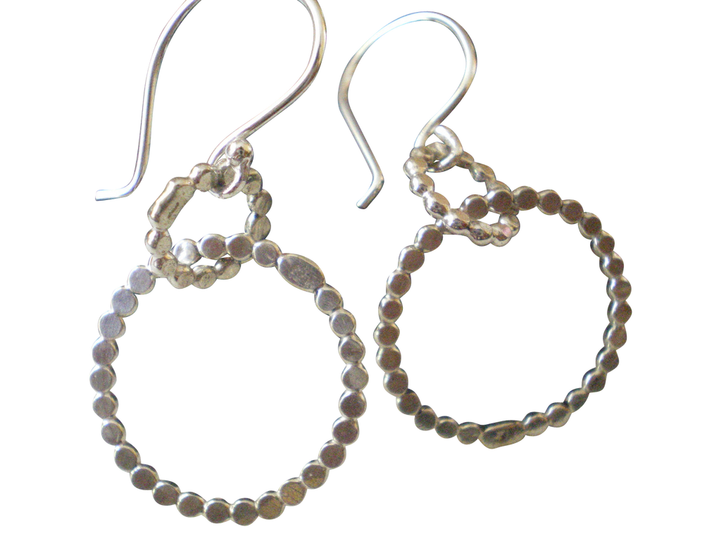bubbly double circle hoop earrings
