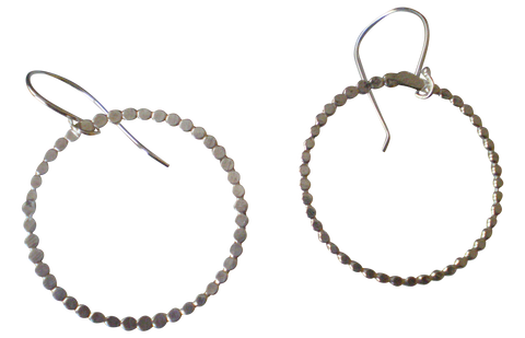 bubbly single circle earrings