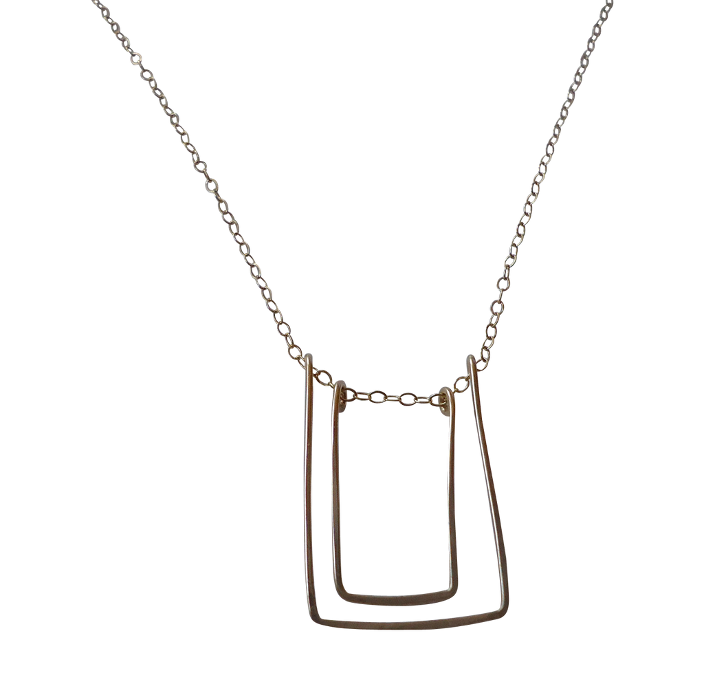 double rectangle necklace