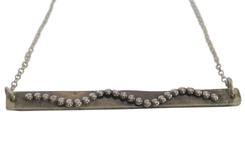 bubbly wavy bar necklace