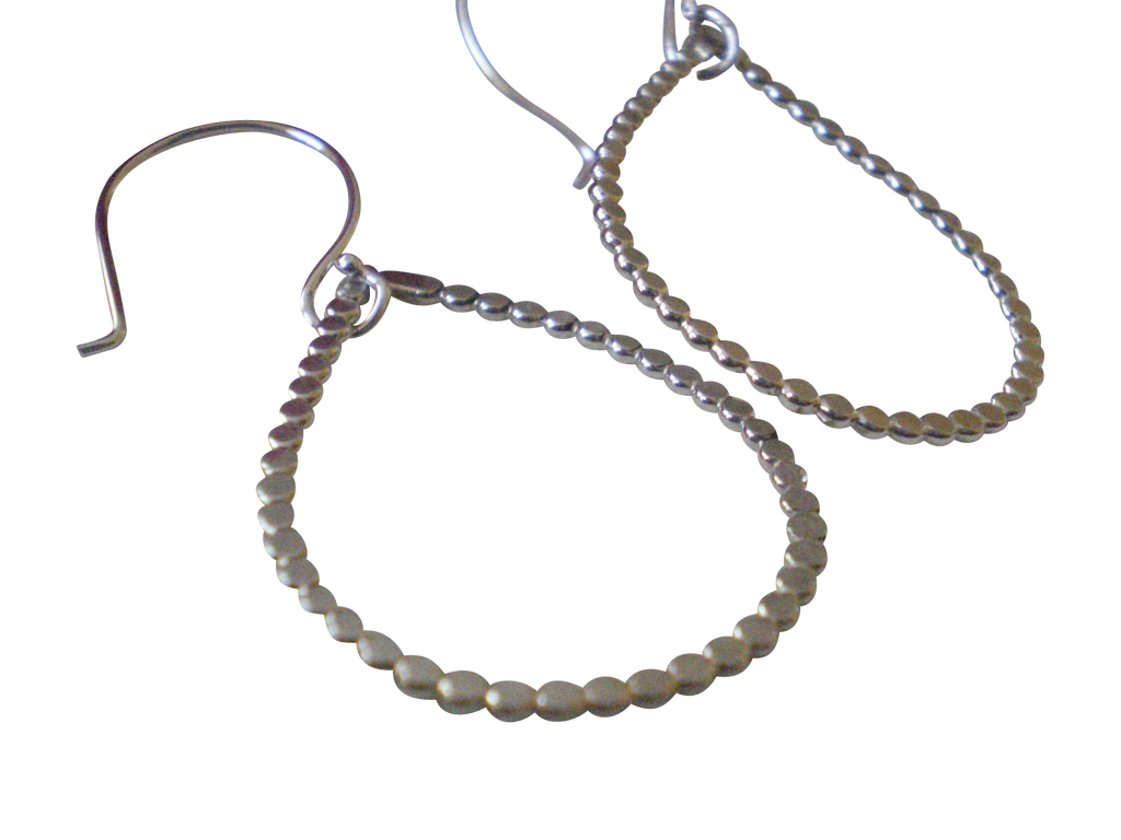 bubbly teardrop hoop earrings