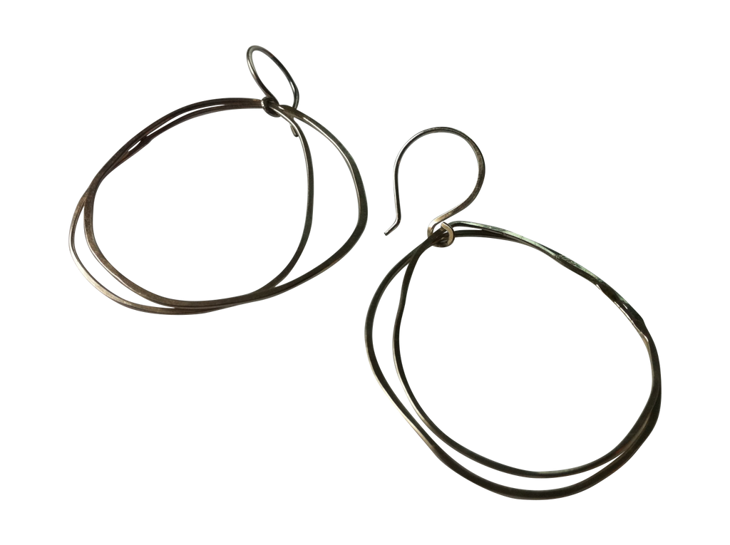 perfectly imperfect double circle earrings