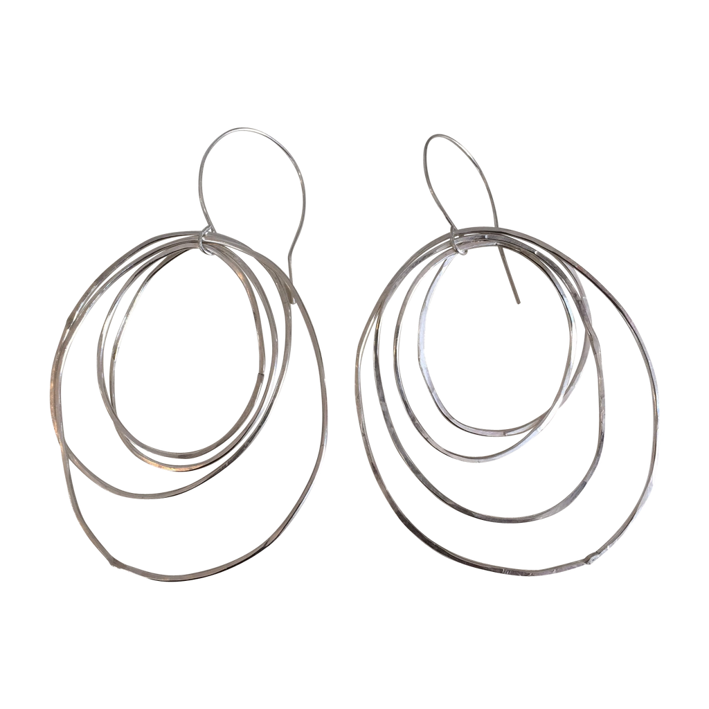 perfectly imperfect multi circle hoops