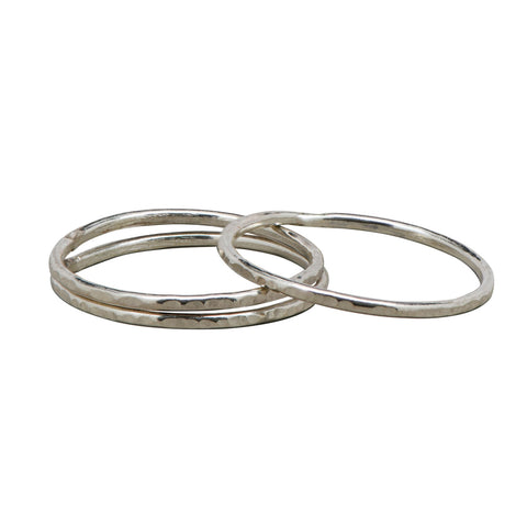 textured stacker rings