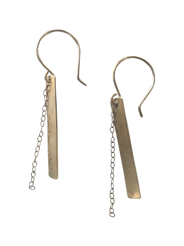 bar and chain earrings