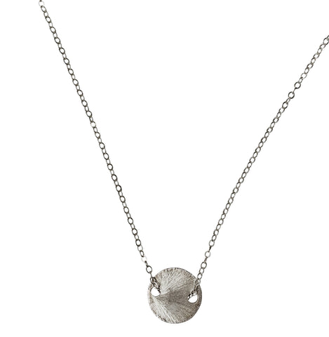 radiate disc necklace