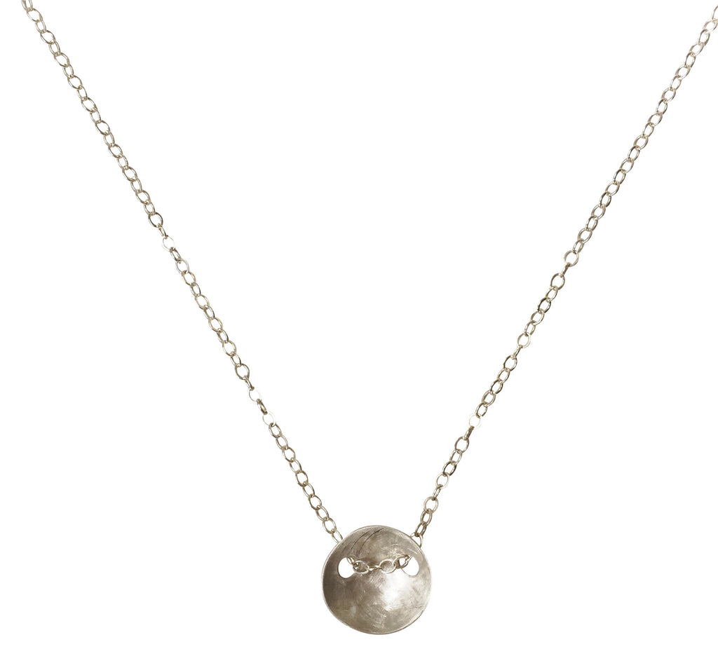 domed disc necklace