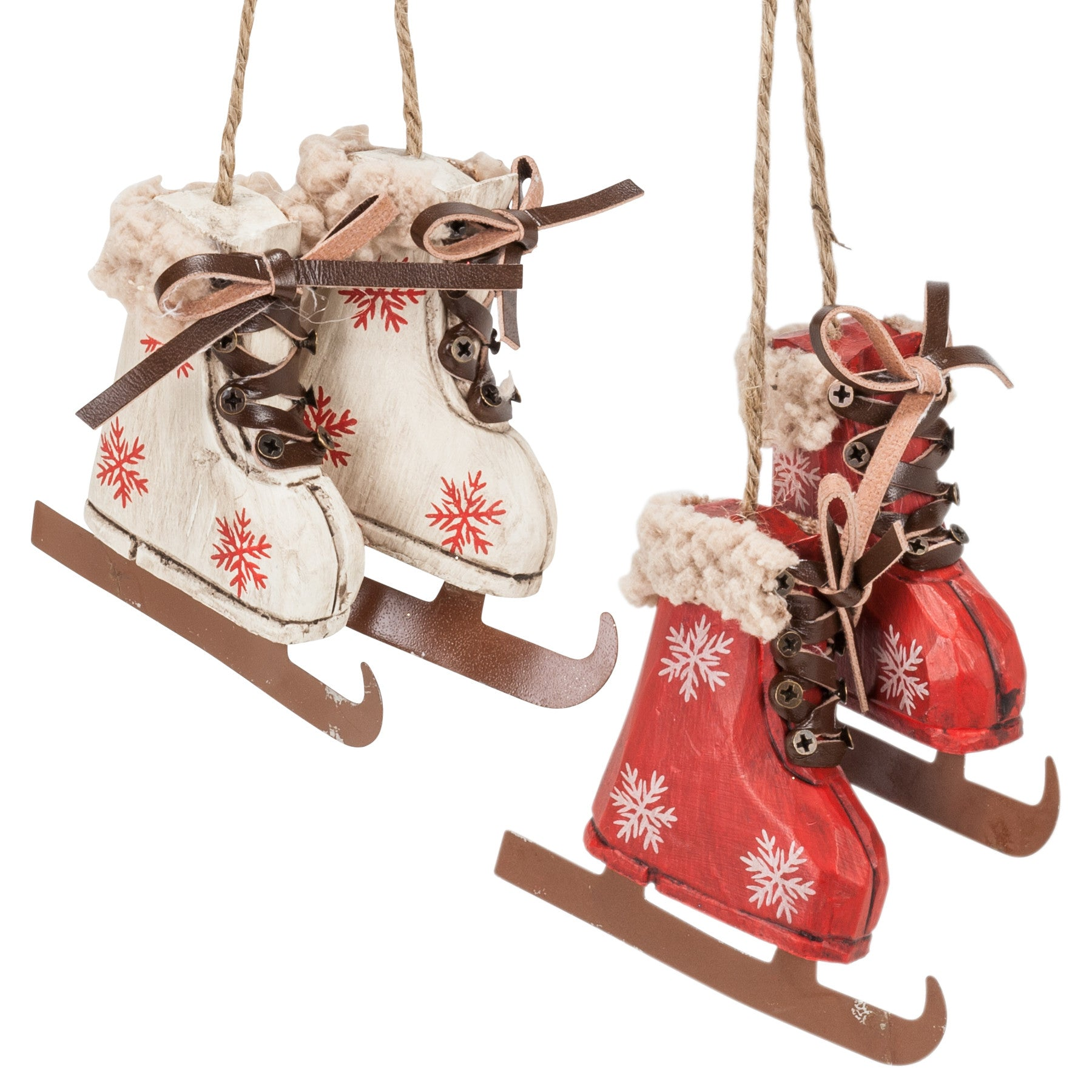 Set of 6 Pair of Skates Ornaments | Christordecor.com - Christor Decor