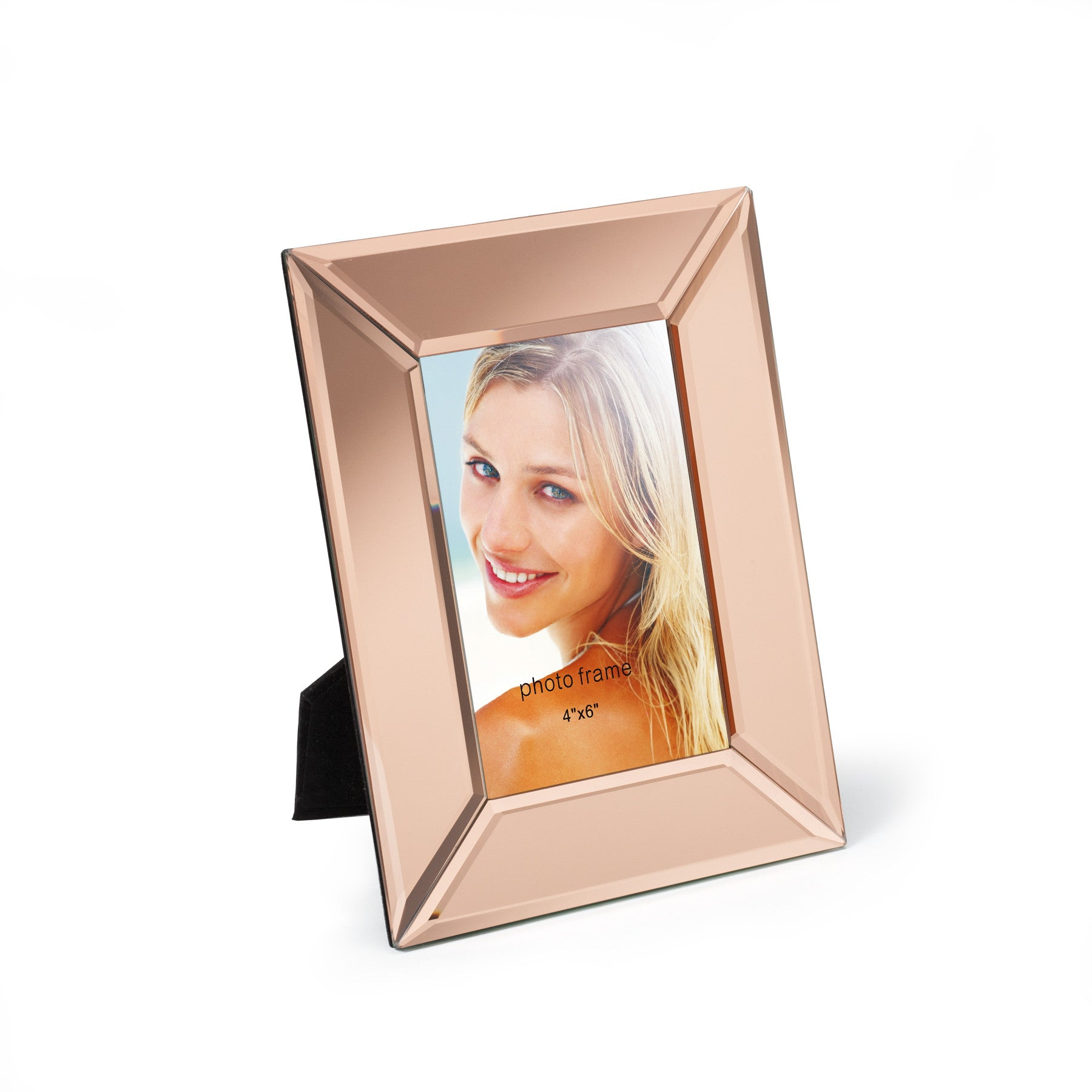 4 6 rose gold glass mirror photo frame