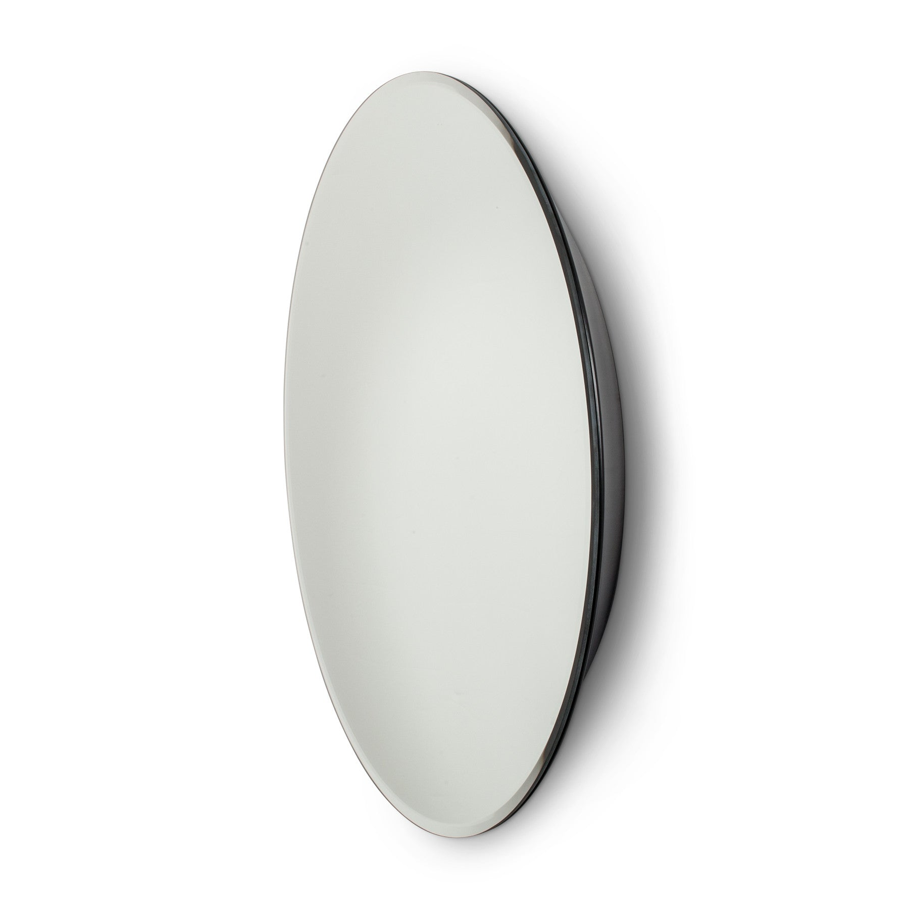 20 Glass Small Round Floating Wall Mirror