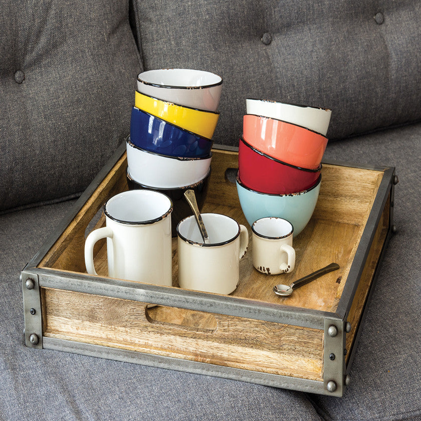 Enamel Look Stoneware Collection